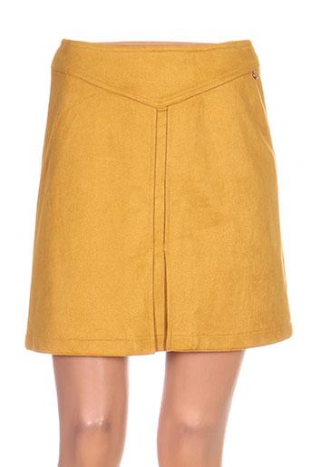 jus d'orange jupes femme de couleur jaune