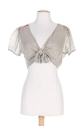 coco menthe vestes femme de couleur beige