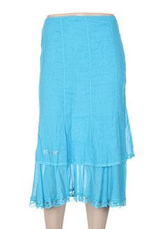 Jupe mi-longue bleu FUEGOLITA pour femme