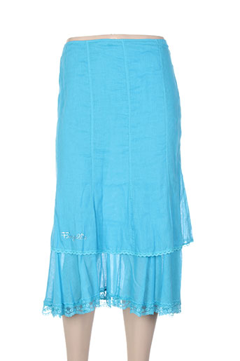 fuegolita jupes femme de couleur bleu