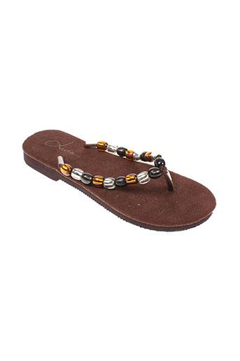 livia chaussures femme de couleur marron