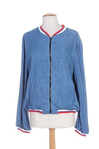 atelier jad vestes femme de couleur bleu