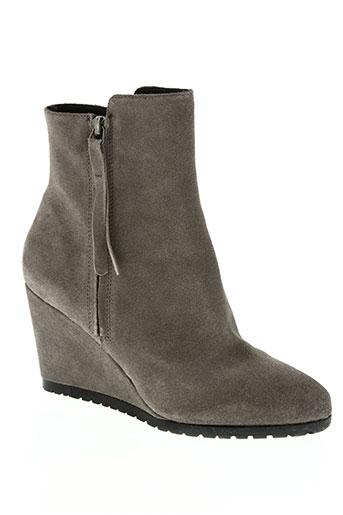 Bottines/Boots beige BRUNO PREMI pour femme