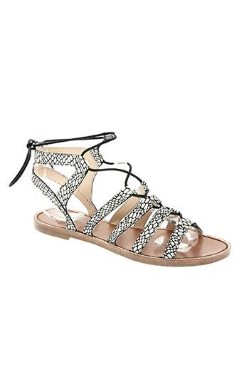 anaki chaussures femme de couleur blanc