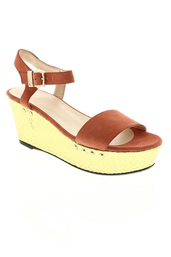anaki chaussures femme de couleur orange
