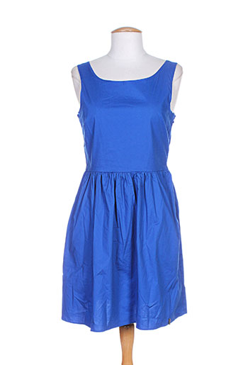 pepe jeans robes femme de couleur bleu