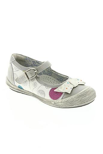 rondinaud chaussures fille de couleur gris