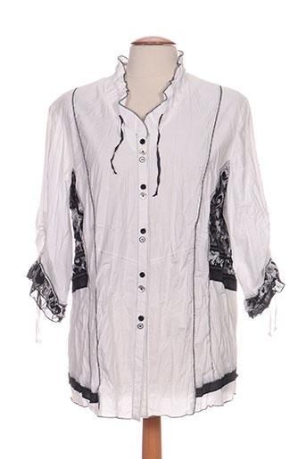 gelco chemises femme de couleur blanc