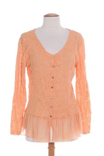 lauren vidal chemises femme de couleur orange