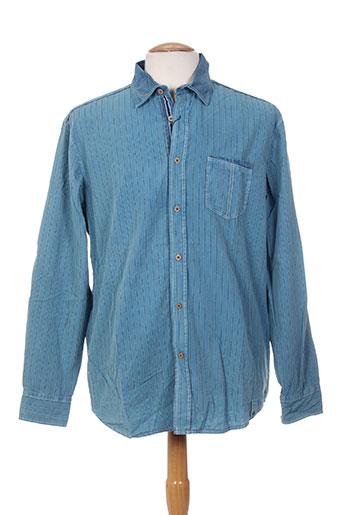 monte carlo chemises homme de couleur bleu