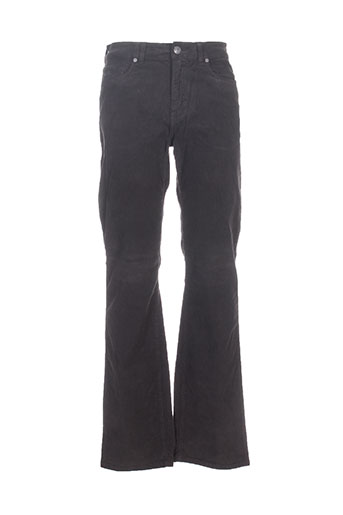 trussardi jeans pantalons homme de couleur marron