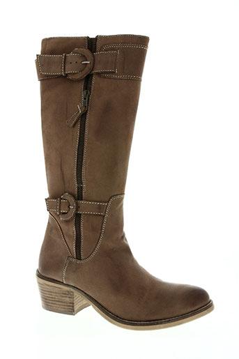inea chaussures femme de couleur marron