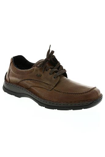 rieker chaussures femme de couleur marron