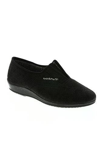 soir et matin chaussures femme de couleur noir