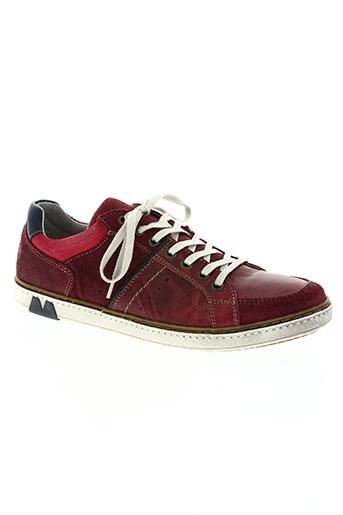 arid by arima chaussures homme de couleur rouge