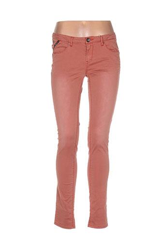 Jeans coupe slim rose GARCIA pour femme