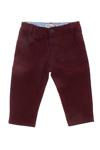 jean bourget pantalons enfant de couleur rouge