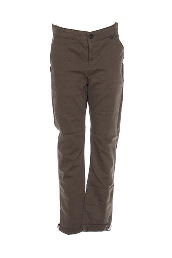 jean bourget pantalons garçon de couleur vert