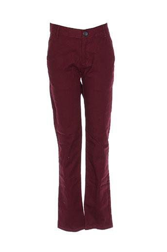 jean bourget pantalons garçon de couleur rouge