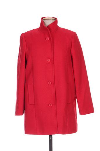 falcata manteaux femme de couleur rouge