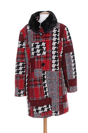 divas manteaux femme de couleur rouge