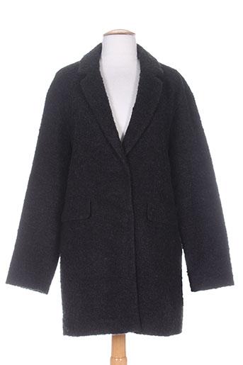 white label manteaux femme de couleur noir