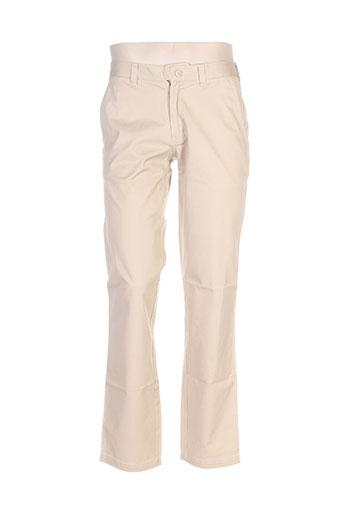 lucas delli pantalons homme de couleur beige