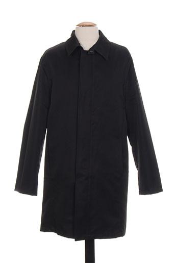 men's fashion manteaux homme de couleur noir