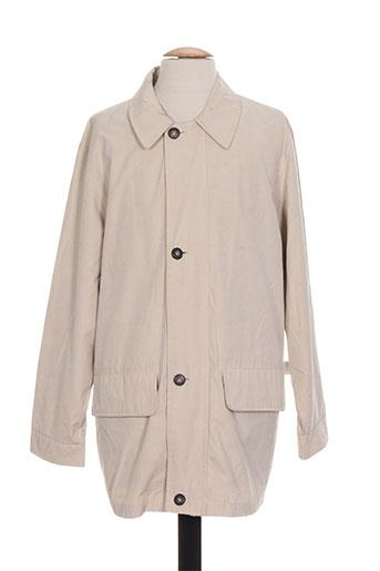 peter cofox manteaux homme de couleur beige
