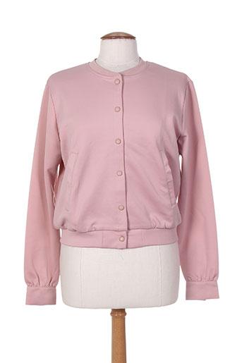 teddy smith vestes fille de couleur rose