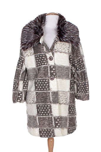 lara manteaux femme de couleur marron
