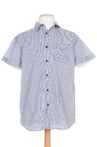 cbk chemises homme de couleur bleu