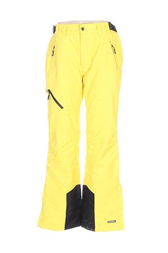 icepeak pantalons femme de couleur jaune
