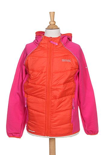 regatta vestes fille de couleur orange