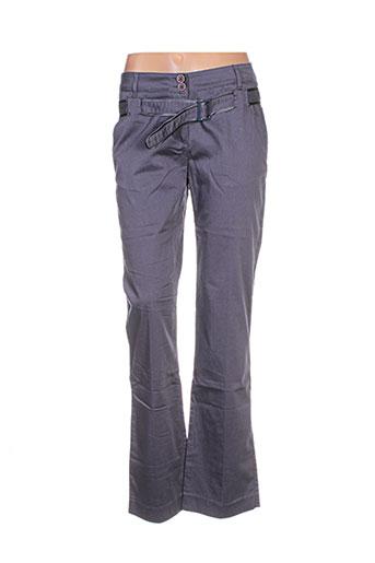 Pantalon casual gris CNB pour femme