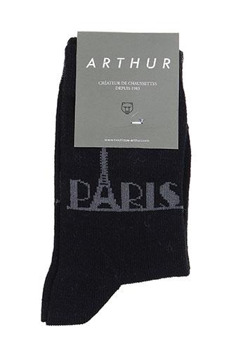 Chaussettes noir ARTHUR pour garçon