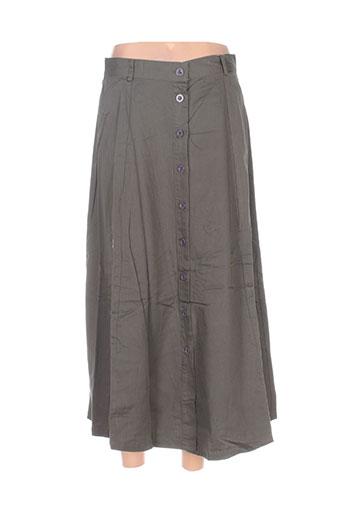 point de suspension jupes femme de couleur vert