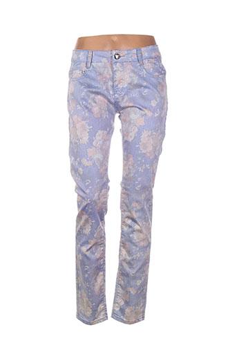 fionina pantalons femme de couleur violet