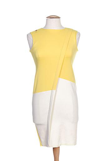 pois robes femme de couleur jaune