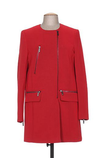 morgan manteaux femme de couleur rouge