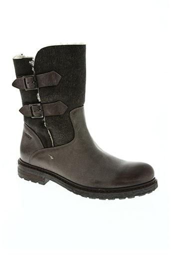 bi key chaussures femme de couleur marron