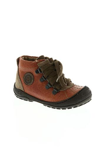 mod8 chaussures garçon de couleur orange