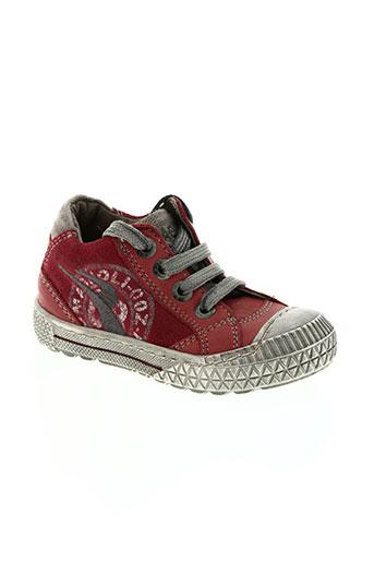 romagnoli chaussures garçon de couleur rouge