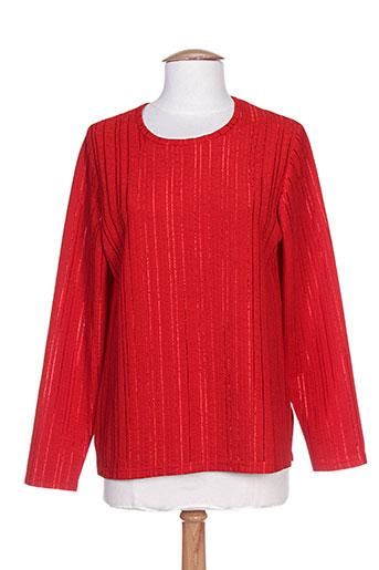 brigitte saget chemises femme de couleur rouge