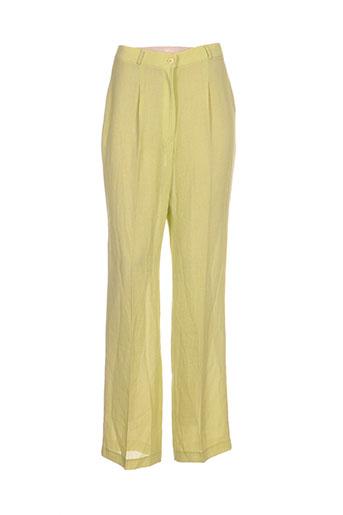 Pantalon chic vert ANGEL NINA pour femme