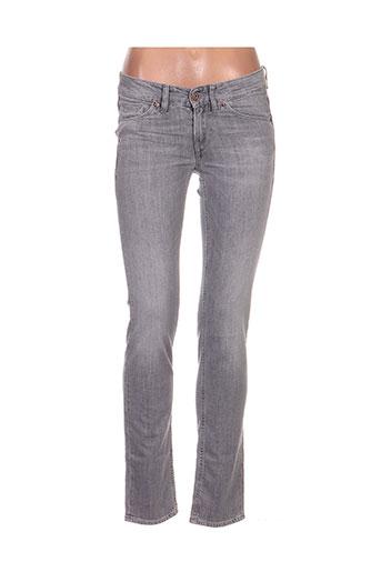 gsus jeans femme de couleur bleu