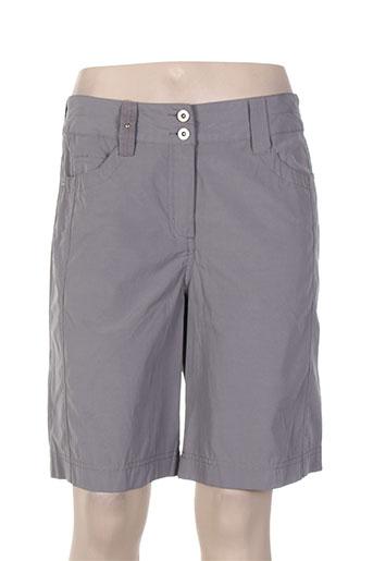 brandtex shorts / bermudas femme de couleur gris