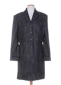 Manteau long bleu SYM pour femme