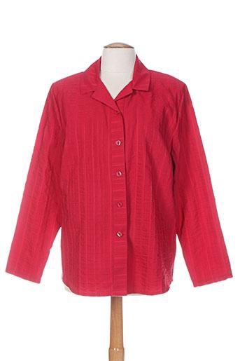 plurielles chemises femme de couleur rouge