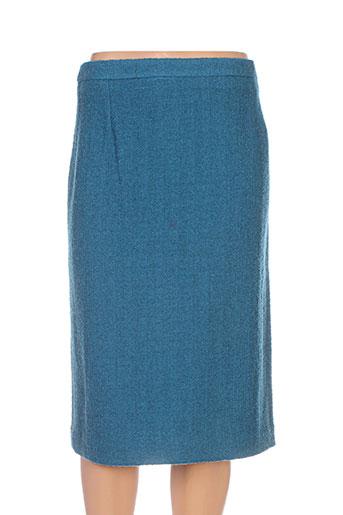 gerard pasquier jupes femme de couleur bleu